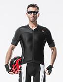 cheap Evening Dresses-SANTIC Men's Short Sleeve Cycling Jersey - Black Bike Jersey, Ultraviolet Resistant, Breathable, Reflective Strips Spandex
