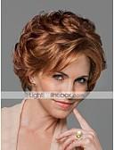 cheap Evening Dresses-Human Hair Capless Wigs Human Hair Wavy With Bangs Side Part Short Capless Wig Women's