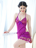 cheap Panties-Women's Super Sexy Ultra Sexy Lace Lingerie Chemises & Gowns Nightwear - Backless, Solid Colored