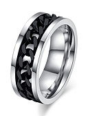 cheap Men's Sweaters & Cardigans-Men's Statement Ring - Titanium Steel Love 7 / 8 / 9 / 10 / 11 Silver / Black For Wedding Party Gift