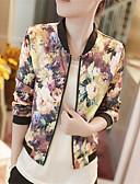 cheap Women's Blazers-Women's Jacket - Floral Floral Print, Print Stand