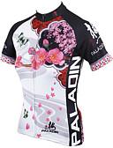 hesapli Kokteyl Elbiseleri-ILPALADINO Kadın's Kısa Kollu Bisiklet Forması - Beyaz Çiçek / Botanik Bisiklet Forma, Hızlı Kuruma, Ultravioleye Karşı Dayanıklı, Nefes