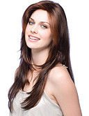 billige Nattøy til damer-høy kvalitet Fuel lang bølget mono topp virgin Remy menneskelig hår parykker 7 farger å velge