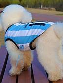 halpa Naisten kaksiosaiset asut-Kissa / Koira T-paita / Jersey Koiran vaatteet Raita / Kirjain ja numero Sininen Teryleeni Asu Lemmikit Kesä Cosplay / Häät