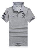 ieftine Polo Bărbați-Bărbați Mărime Plus Size Polo Sport Muncă Mată Imprimeu Bumbac