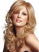tanie Romantyczna koronka-Peruki bez czepka z naturalnych włosów Włosy naturalne Falowana Bez czepka Peruka