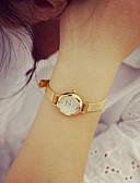 זול שעוני צמיד-בגדי ריקוד נשים שעון צמיד שעונים יום יומיים PU להקה וינטאג' / אופנתי זהב