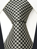 cheap Men's Ties & Bow Ties-Men's Cute Party Work Rayon Necktie - Color Block Houndstooth Jacquard Basic