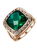 cheap Women's Scarves-Women's Statement Ring Promise Ring - Alloy Fashion 7 / 8 / 9 Dark Green For Wedding Party Engagement / Crystal / Cubic Zirconia