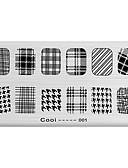 abordables Relojes Brazalete-1 pcs Estampado de placa Modelo arte de uñas Manicura pedicura Abstracto / Punk / Moda Diario / Placa de estampado / Metal