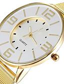 abordables Relojes Brazalete-Mujer Reloj de Pulsera Reloj Casual Aleación Banda Casual / Moda / Elegante Dorado / Un año