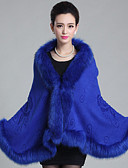 cheap Women's Coats & Trench Coats-Sleeveless Faux Fur Wedding Wedding  Wraps / Fur Coats / Hoods & Ponchos With Feathers / Fur Capes