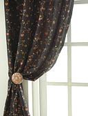preiswerte Hochzeitsschleier-zwei Panele Window Treatment Neoklassisch Designer Rustikal Schlafzimmer Poly /  Baumwollmischung Stoff Vorhänge drapiert Haus Dekoration