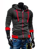 voordelige Herenhoodies & Sweatshirts-Heren Grote maten Sport Actief Lange mouw Hoodie Jacket Kleurenblok