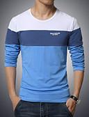 お買い得  メンズTシャツ&タンクトップ-男性用 スポーツ プラスサイズ Tシャツ ソリッド カラーブロック コットン