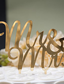 preiswerte Hochzeitskleider-Tortenfiguren & Dekoration Klassisch Klassisches Paar Fester Kunststoff Hochzeit Jahrestag Brautparty mit 1 OPP