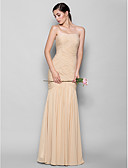 cheap Bridesmaid Dresses-Fit & Flare Sweetheart Neckline Floor Length Chiffon Bridesmaid Dress with Criss Cross by LAN TING BRIDE® / Open Back