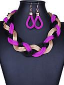 זול שמלות נשים-קלוע סט תכשיטים - וינטאג', מסיבה, עבודה לִכלוֹל סגול עבור Party / אירוע מיוחד / יוֹם הַשָׁנָה / עגילים / שרשראות