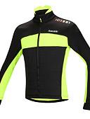 abordables Biquinis y Bañadores para Mujer-SANTIC Chaqueta de Ciclismo Hombre Bicicleta Chaqueta Top Invierno Algodón Ropa para Ciclismo Mantiene abrigado Resistente al Viento