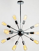 halpa Cocktail-mekot-BriLight Sputnik Kattokruunu Tunnelmavalo Galvanoitu Metalli Candle Style 110-120V / 220-240V Polttimo ei ole mukana toimitksessa / E26 / E27