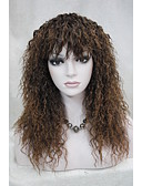 cheap Quartz Watches-Synthetic Wig Curly With Bangs Synthetic Hair With Bangs Wig Women's Long Capless Brown