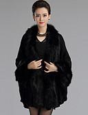 cheap Women's Fur Coats-Long Sleeve Faux Fur / Imitation Cashmere Wedding Wedding  Wraps / Fur Coats / Hoods & Ponchos With Feathers / Fur Capes