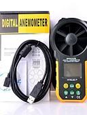 baratos Trench Coats e Casacos Femininos-anemômetro digital / volume de ar multifunções ms6252b hyelec / temperatur / umidade