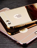 abordables Vestidos de Novia-Funda Para Apple iPhone 6 iPhone 6 Plus Cromado Espejo Funda Trasera Color sólido Dura Metal para