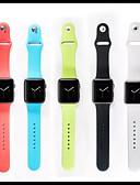 hesapli iPhone Kılıfları-Watch Band için Apple Watch Serisi 5/4/3/2/1 / Apple Watch Series 4/3/2/1 Apple Spor Bantları Silikon Bilek Askısı