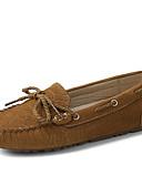 ieftine Bluză-Pentru femei Pantofi Piele de Căprioară Primăvară / Toamnă Confortabili Încălțăminte de Barcă Toc Drept Dantelă Fucsia / Maro Deschis
