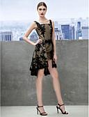 preiswerte Abendkleider-A-Linie Riemen Knie-Länge Spitze Wandelbare Kleider Cocktailparty / Abiball Kleid mit Spitze durch TS Couture®