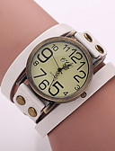 cheap Quartz Watches-Women's Wrist Watch Quartz PU Band Analog Vintage Bohemian Fashion Black / White / Blue - Red Green Blue One Year Battery Life