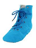 olcso nadrág-Férfi / Női Balett / Balettcipők / Tánccipők Szövet Csizmák Lapos Szabványos méret Dance Shoes Kék / Otthoni / Teljesítmény / Gyakorlat