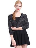 preiswerte Damen Pullover-Damen Grundlegend Strickjacke - Solide, Quaste