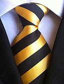 olcso Férfi nyakkendők és csokornyakkendők-Férfi Csíkos Party / Munkahelyi / Alap - Nyakkendő