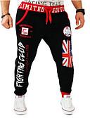 זול מכנסיים ושורטים לגברים-מכנסיים - דפוס פעיל מכנסי טרנינג משוחרר כותנה פעיל בגדי ריקוד גברים