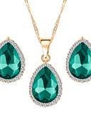 baratos Macacões & Macaquinhos-Mulheres Conjunto de jóias - Fashion Incluir Vermelho / Verde / Azul Para Casamento / Festa / Diário / Brincos / Colares