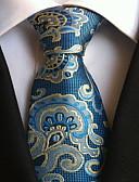 זול עניבות ועניבות פרפר לגברים-עניבת צווארון - גיאומטרי דפוס מסיבה / עבודה / בסיסי בגדי ריקוד גברים