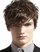 cheap Women's Nightwear-Synthetic Wig Wavy With Bangs Synthetic Hair Side Part Brown Wig Men's / Women's Short Capless