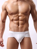 cheap Men's Exotic Underwear-Men's Super Sexy Boxer Briefs Solid Colored 1box Blue Pink Light gray L XL
