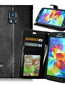 halpa Telineet ja jalustat-Etui Käyttötarkoitus Samsung Galaxy S6 edge plus / S6 edge / S6 Lomapkko / Korttikotelo / Tuella Suojakuori Yhtenäinen PU-nahka