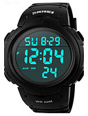 cheap Sport Watches-Men's Digital Wrist Watch / Sport Watch Alarm / Calendar / date / day / Chronograph / Water Resistant / Water Proof / Cool PU Band Black