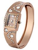 baratos Relógios da Moda-Mulheres Relógio de Moda Simulado Diamante Relógio Japanês Quartzo 30 m imitação de diamante PU Banda Analógico Com Pérolas Elegante Preta / Marrom Um ano Ciclo de Vida da Bateria