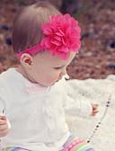 billige Barn Hodeplagg-Baby Jente Søt Daglig Ensfarget Blomst Nylon / Sateng Hårtilbehør Rosa / Mørkerød / Lyseblå En Størrelse / Pannebånd