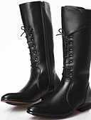 cheap Women's Dresses-Men's Shoes Synthetic Microfiber PU Fall / Winter Fashion Boots / Motorcycle Boots / Combat Boots Boots Mid-Calf Boots Black