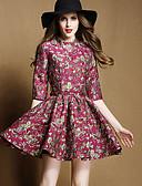 זול שמלות נשים-מעל הברך פרחוני - שמלה גזרת A וינטאג' בגדי ריקוד נשים