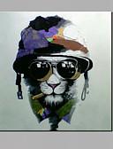 billige Kjoler-Hang-Painted Oliemaleri Hånd malede - Popkunst Moderne Lærred