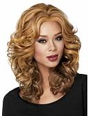 billige Brudepikekjoler-Syntetiske parykker Dame Bølget Blond Syntetisk hår Blond Parykk Kort Lokkløs Blond
