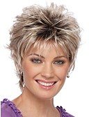 cheap Women's Pants-new curly short women wigs synthetic hair wig blonde with dark roots ombre hair wig