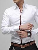 cheap Men's Shirts-Men's Casual Plus Size Cotton Slim Shirt - Solid Colored Classic Collar